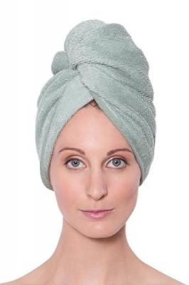 Texere Women's Bamboo Hair Towel (Lily Green, Unisize) Super Absorbent Spa Hair Wrap for Mother Sister Daughter AB0101-LGN-U