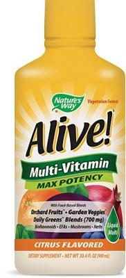 Nature's Way Alive!®Multivitamin Citrus Flavor Liquid,  Food-Based Blends (1,010mg per serving) and Antioxidants, 30.4 fl oz