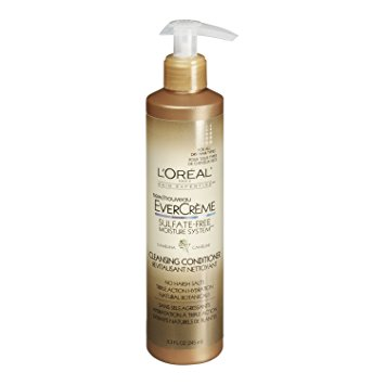 L'Oreal Paris EverCreme Sulfate-Free Moisture System Cleansing Conditioner, Camelina, 8.3 fl. Oz.