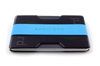 Radix One Slim Wallet (Smoke/Cyan)
